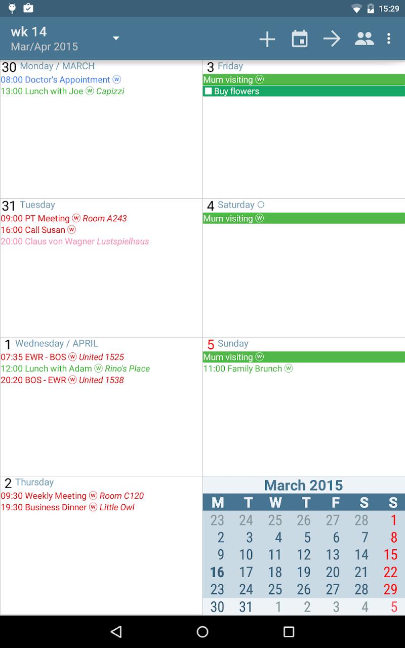 aCalendar+ Calendar & Tasks Screenshot 12