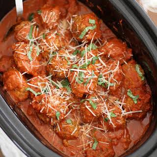 Slow Cooker Italian Meatballs.