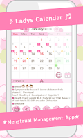 Screenshot of LadysCalendar(Period)