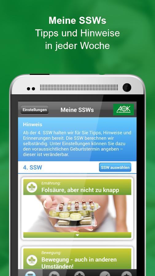 AOK Schwanger- screenshot