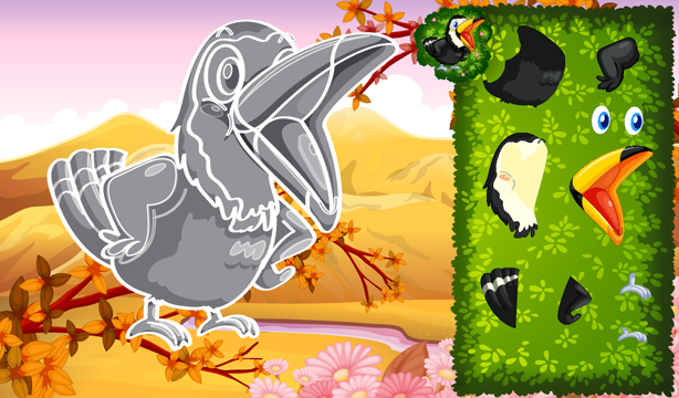 Animated puzzles birds- screenshot