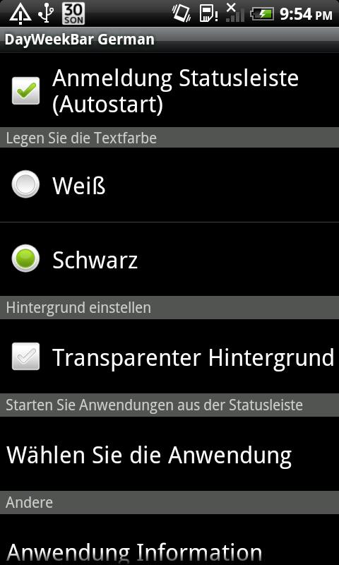 DayWeekBar Deutsch - screenshot