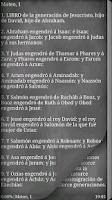 Screenshot of Santa Biblia. Nuevo Testamento