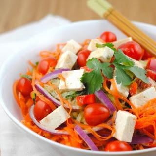 Vegetable Noodle Salad with Peanut Dressing