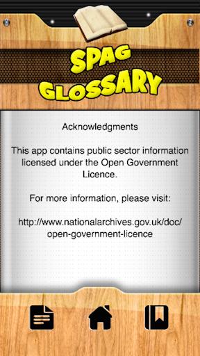 【免費教育App】SPAG Glossary-APP點子