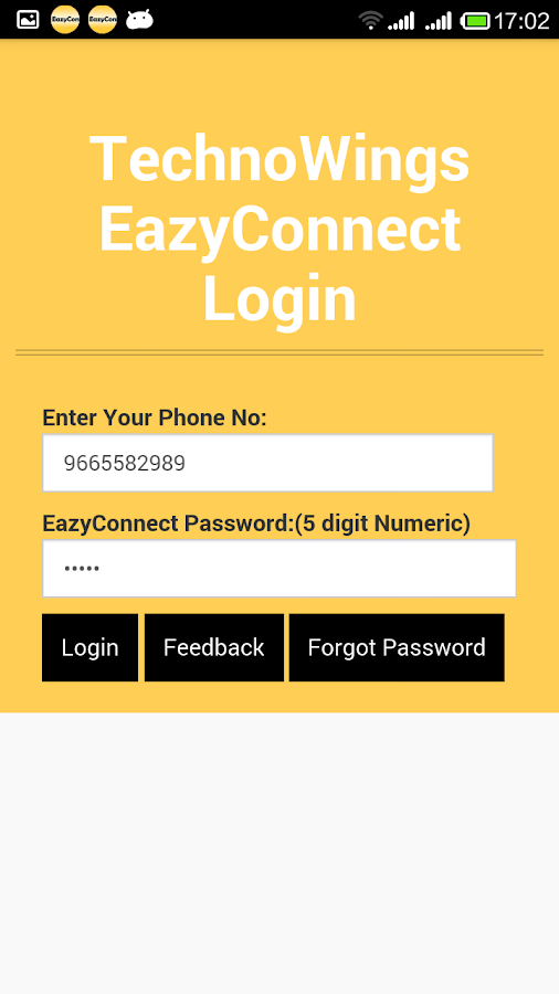 TechnoWings EazyConnect App- screenshot