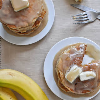 Whole Wheat Brown Sugar Banana Bread Pancakes.