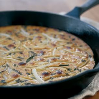 Farinata with Herbs and Onions.