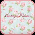 Vintage flower go launcher icon