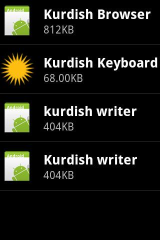 Kurdish Keyboard- screenshot