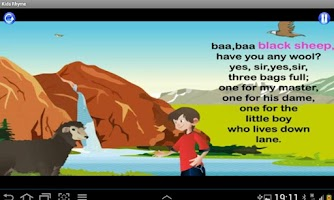 Screenshot of Kids Rhyme Baa Baa Black Sheep