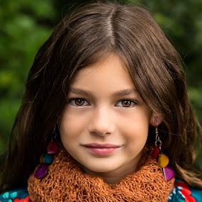 by Dave Crystal - Babies & Children Child Portraits ( models, child photography, child portrait, scarf )