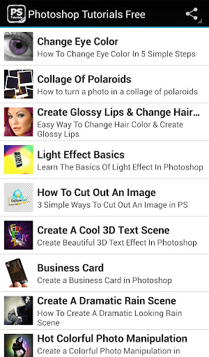 Free Tutorials For Photoshop