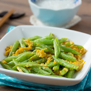 Stir-fried French Beans with Egg.