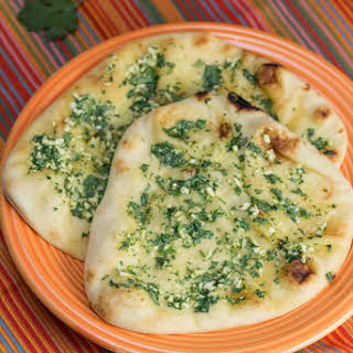 Garlicky Cilantro Naan.