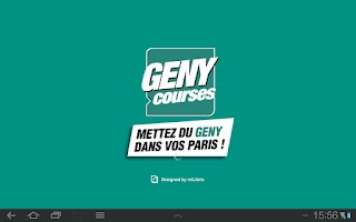 Screenshot of GENY courses - Le journal