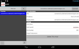 Screenshot of ACS OnDemand