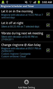 Ringtone Scheduler Plus- screenshot thumbnail
