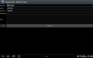 Screenshot of Password 360 Plus