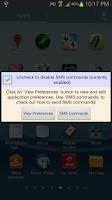 Screenshot of Mobile Locator using SMS