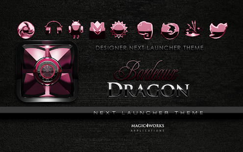 Next Launcher Theme Bordeaux D