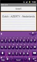 Screenshot of SlideIT Dutch AZERTY Pack