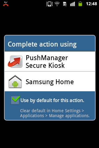 PushManager Secure Kiosk