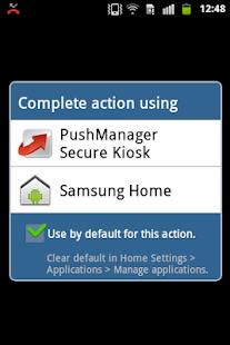 PushManager Secure Kiosk - náhled
