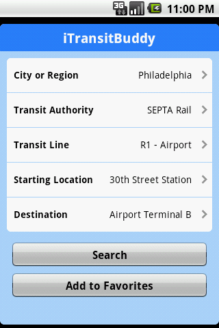 iTransitBuddy SEPTA Lite - screenshot