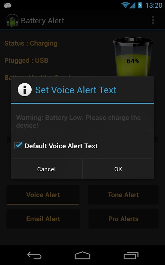 Battery Alert- screenshot
