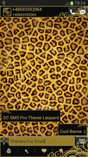GO SMS Pro Theme Leopard - screenshot thumbnail