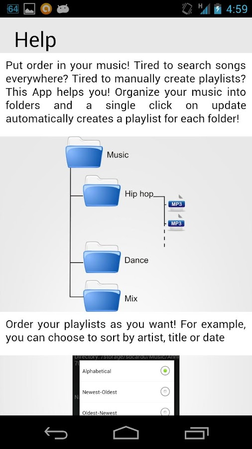 Playlist Organizer - screenshot