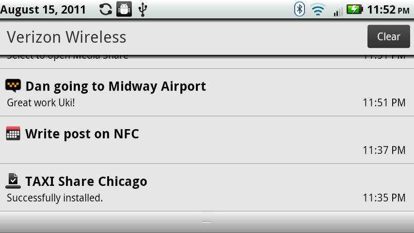 Taxi share - Chicago - screenshot