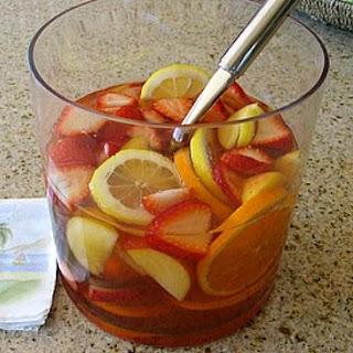 Strawberry- Peach Sangria.