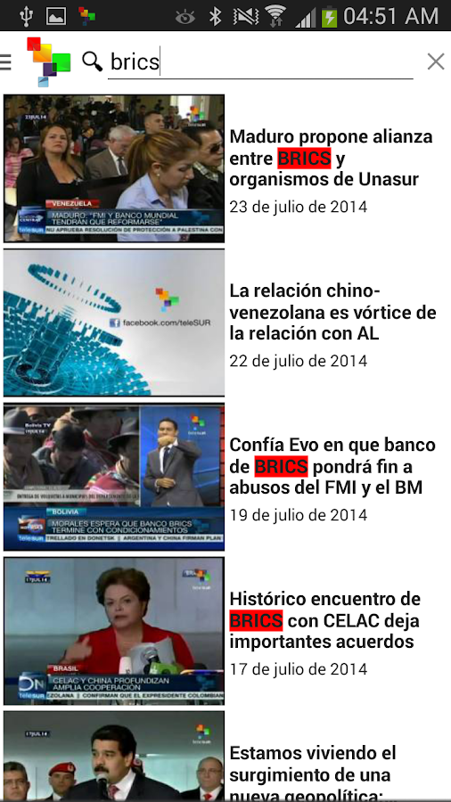 teleSUR Multimedia- screenshot
