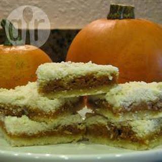 Pumpkin Shortbread Squares.