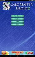 Screenshot of Mathematics: Calc Master Droid