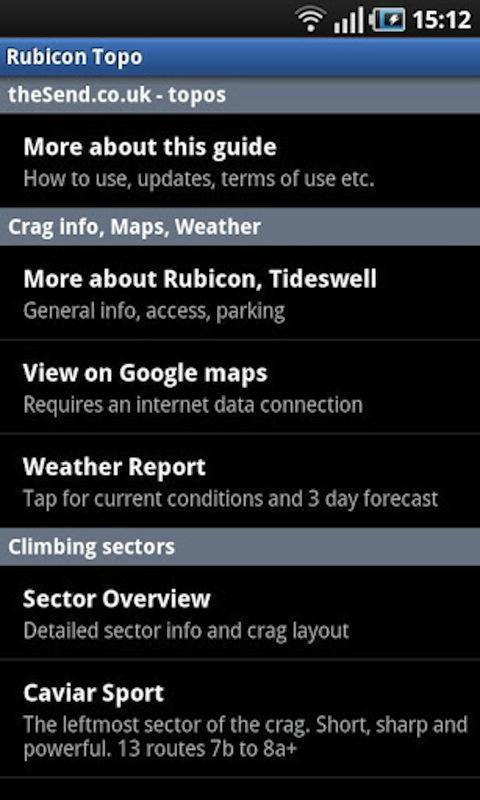 WCJ Rubicon Climbing Topo- screenshot