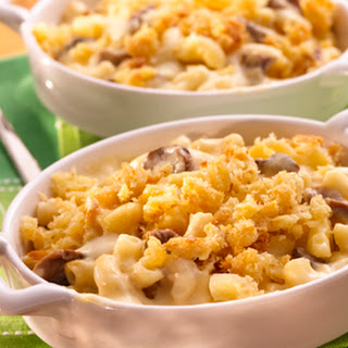 4 State Mac & Cheese with Porcini Mushrooms.