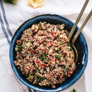 Herbed Quinoa and Pomegranate Salad.
