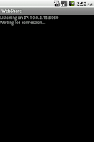 Screenshot of WebShare Lite