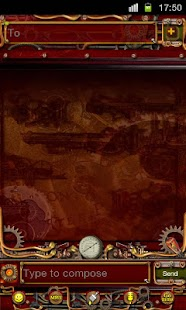 Steampunk GO SMS Theme- screenshot thumbnail