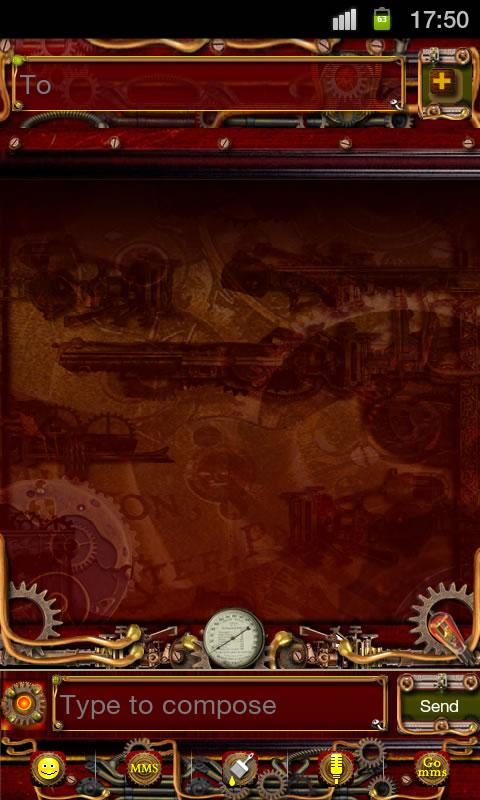 Steampunk GO SMS Theme - screenshot