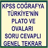 KPSS COĞRAFYA Plato ve Ovalar