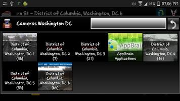 Screenshot of Cameras Washington DC Traffic