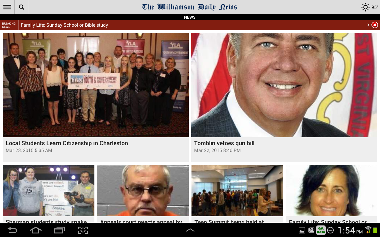 Williamson Daily News- screenshot