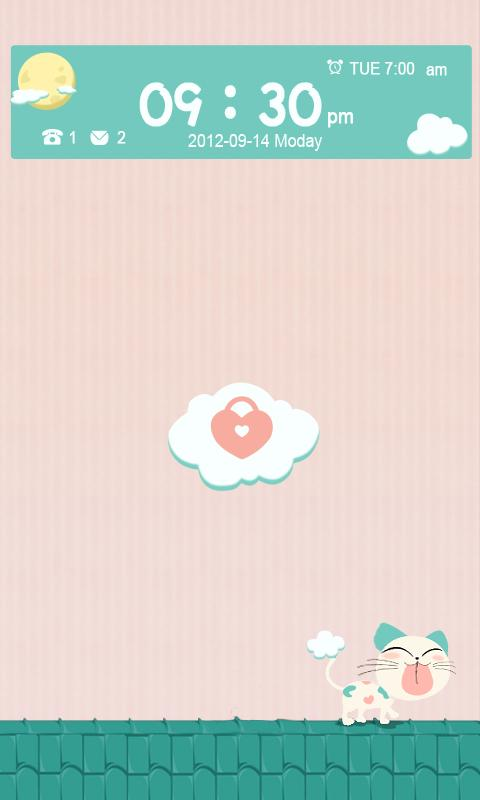 T-LOVELY CAT GO LOCKER THEME - screenshot