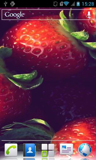Strawberries Live Wallpaper