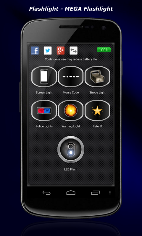 Flashlight - MEGA Flashlight- screenshot