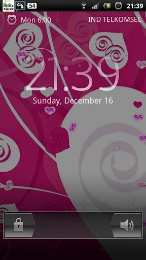 Pink Love Heart Sparkle LWP